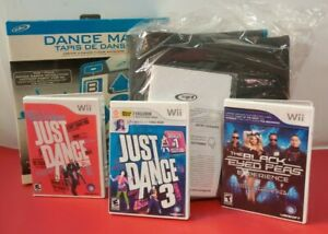 Official Konami Nintendo Wii Dance open box Pad Mat w/ 3 games