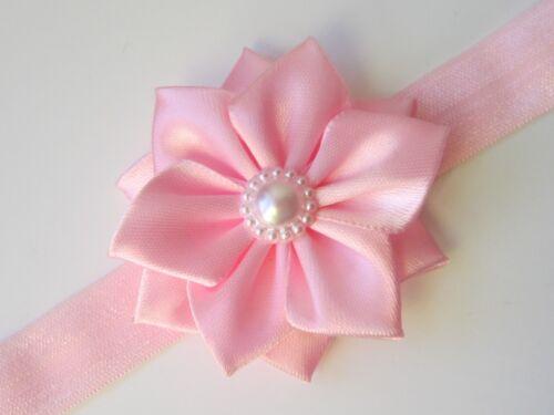 Baby Headband Soft Elastic baby Hair band Bow Hair Accessories ribbon flower UK