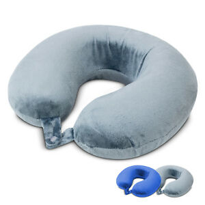 Memory-Foam-Rebound-Travel-Pillow-U-shape-Neck-Support-Headrest-Soft-Car-Flight