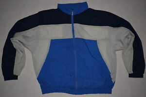 Trainings-Jacke-Sport-Jacket-Bad-Taste-Track-Top-Vintage-Nylon-Glanz-Shiny-90s-L