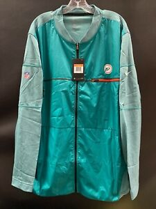 MIAMI DOLPHINS TEAM ISSUED THROWBACK FULL ZIPER TRAVEL WARM UP JACKET BRAND NEW!