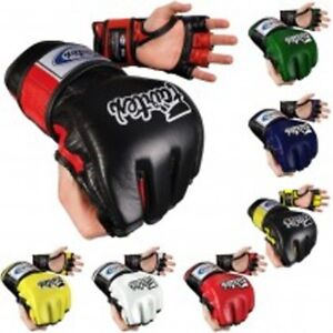 NEW-Fairtex-MMA-Ultimate-Combat-Gloves-Black-Blue-Red-White-Green-Yellow-UFC
