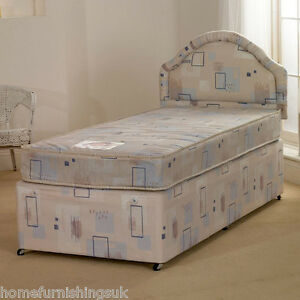 the latest 338a6 facc1 Details about Superb 4ft Small Double Albi Divan Bed with Mattress