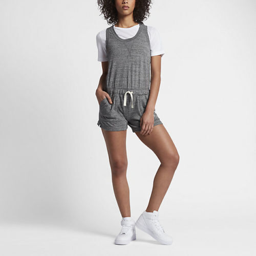 ea71f48eee5a Nike Gym Vintage Romper Carbon Heather Sail Onesy Tank Short 905160 Womens M  for sale online