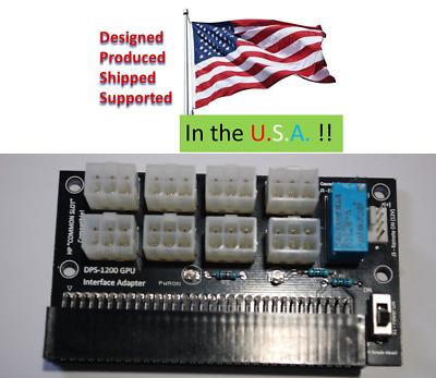 DPS1200FB breakout board adapter GPU miner remote-on 12V Ethereum BTC ZTC BTC
