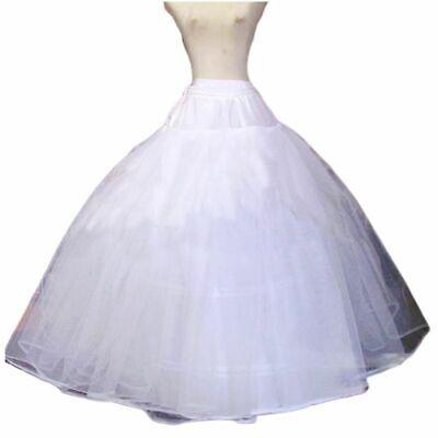 Womens Adjustable Waist 3 Hoop A-Line Wedding Bridal Petticoat Crinoline