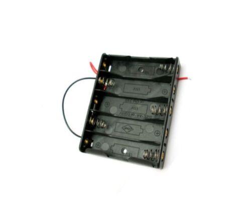 Plastic Battery Storage Case Box Holder For 1xAA 2xAA 3xAA 4xAA 5xAA With Wire K