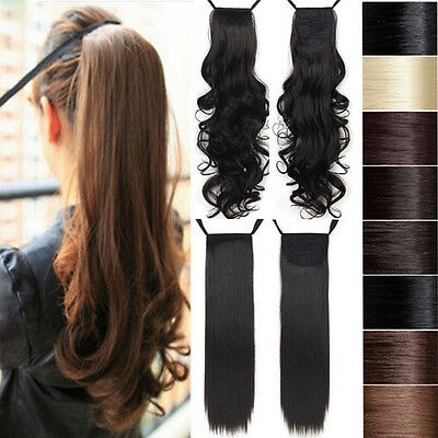 long Straight Curly Wavy Hairpiece Ponytail Hair Extension USA trustful provider