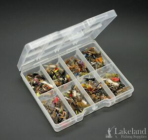 Tackle FLY BOX + Assortiti Misti Ninfa'S TROTE mosche per pesca a mosca, Starter Kit