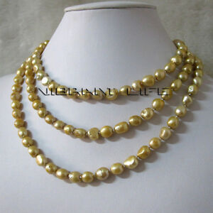 50-034-6-8mm-Champagne-Baroque-Freshwater-Pearl-Necklace-Z-U