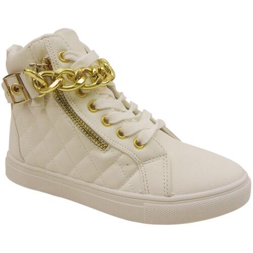 Nouvelle robe mesdames hi top lace up boots cheville formateurs chaussures escarpins Gym Taille