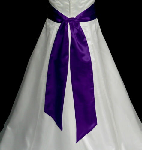 "5/""x90/"" SATIN Fancy Dress Party Wedding Ribbon SASH Band Tie Belt Band Bridesmaid"
