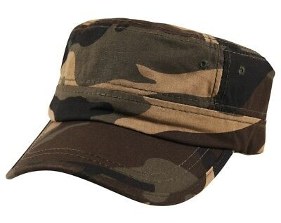 Grey Cadet Cotton Cap Hat Military Army Camouflage Curved Bill Camo Green