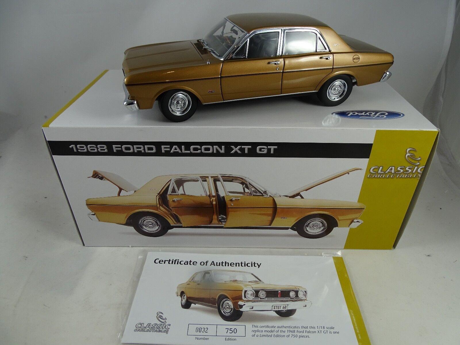 bienvenido a comprar 1 18 18 18 Classic Cochelectables  18220 1968 XT GT Ford Falcon GT oro Lmtd. EDT. rar  Envío rápido y el mejor servicio