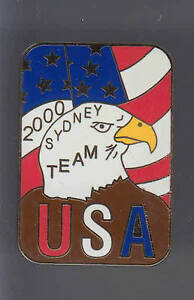 RARE BIG PINS PIN'S 3D .. OLYMPIQUE OLYMPIC SYDNEY 2000 AIGLE USA TEAM ~12 kMOEFuCT-09153424-642547373