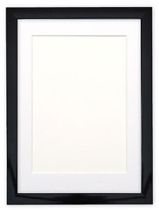 BLACK-WHITE-GLOSS-Picture-frame-photo-frame-poster-frames-with-mount
