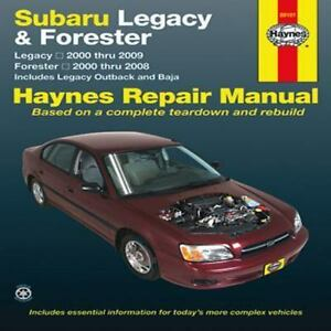 haynes repair manual subaru legacy and forester legacy 2000 thru rh ebay com Subaru Impreza Manual Subaru Owner Manual