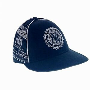 New York Yankees NY Black Silver Medallion Metallic Hat Cap MLB Cash ... b2195df691b