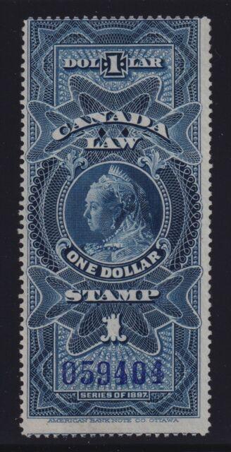 Canada VD #FSC11 (1897) $1 blue Victoria SUPREME COURT Law Stamp Revenue Used