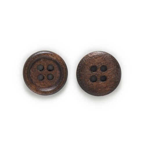 50pcs 4 hole Wood Buttons for Sewing Scrapbook Clothing Crafts Gift 15mm