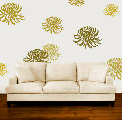 Chrysanthemum Stencil Floral Home Wall Decor Art Craft Paint Ideal Stencils