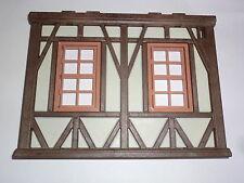 Playmobil Ritterburg Fachwerk Haus Mittelalter Wand mit Fenster 3666