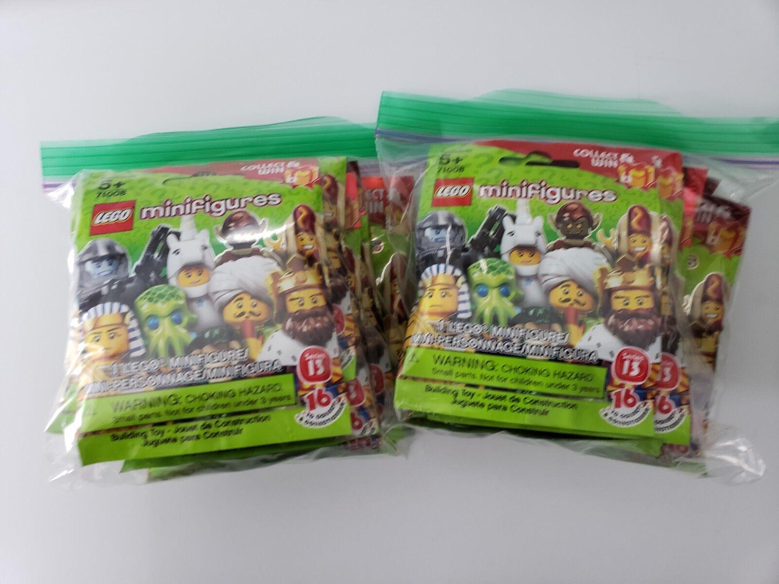 Lego Minifiguras Coleccionables Serie 13 71008 Set Completo 16 retirado Sellado Hot Dog