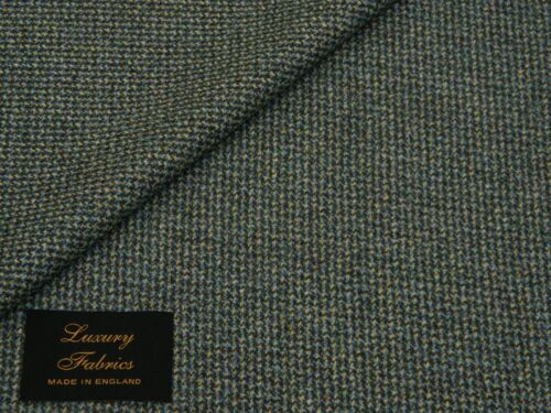 MADE IN ENGLAND MIXTURE TURQUOISE//LIGHT GREEN//GREEN 100/% WOOL JACKETING FABRIC