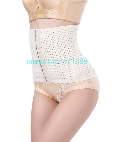 Steel Boned Waist Training Tummy Girdle Belt Shaper Cincher Underbust Corset SY
