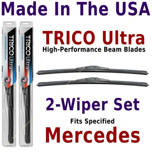 13-22-22 Buy American TRICO Ultra 2-Wiper Blade Set fits listed Mercedes-Benz