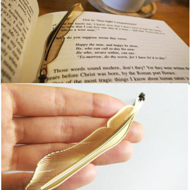 Exquisite Golden Animal Feather Bookmark Fiction Magazine Office School Supplies