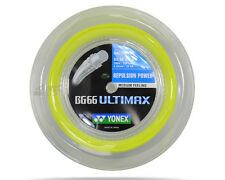 Genuine Yonex BG66 Ultimax Badminton String BG 66 - 200m Reel - Yellow