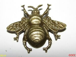 b14ea11068454 steampunk brooch badge pin bronze honey bumble bee nectar pollen ...