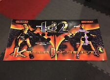 Killer Instinct 2 CPO Control Panel Overlay KI Arcade Decal Sticker Vinyl Midway