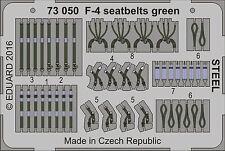 Eduard 1/72 McDonnell F-4 Phantom Seat Belts Green STEEL # 73050