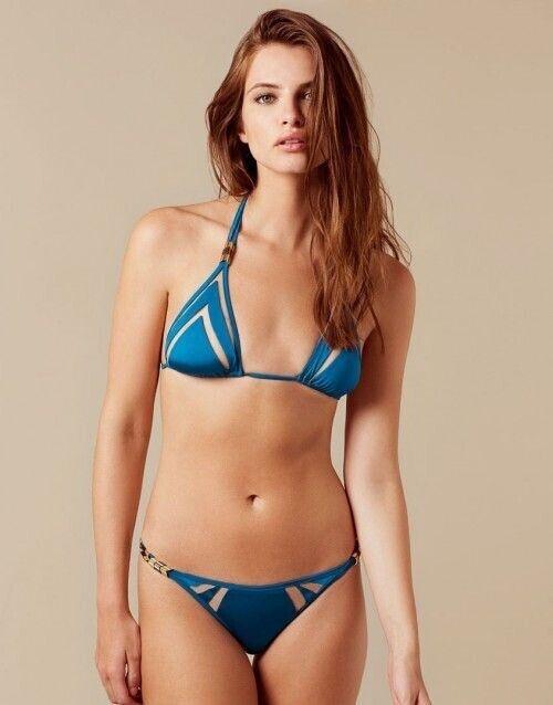 Agent Provoceur Tora blå   Turquoise Triangle Bikini Bra 4 & Kort AP 3