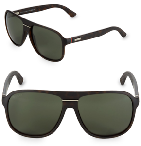 29f94f7ab74 GUCCI Square Men Sunglasses GG 1076 N S Matte Tortoise Brown Green ...
