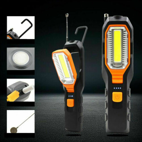 LED Work Light COB Car Garage Inspection Lamp Magnetic Torch USB Rechargeable
