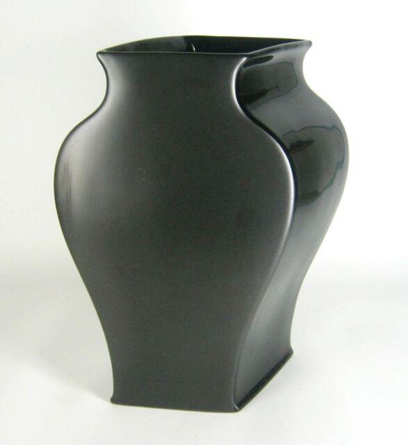 Rosenthal Porzellan Vase Serie Sakura Porcelaine Noire Tadao Amano Design 28cm