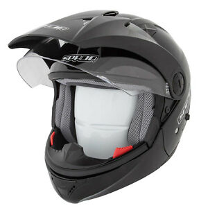 Spada-Duo-Duel-full-face-open-face-Motorcycle-Helmet-matt-Black