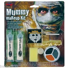 MUMMY MAKE UP KIT FACE PAINT HALLOWEEN HORROR FANCY DRESS SPECIAL EFFECTS CURSE