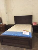 Factory Second Queen Size Tas Oak Bedroom Suite, Bed+2 Bedside Table+tallboy