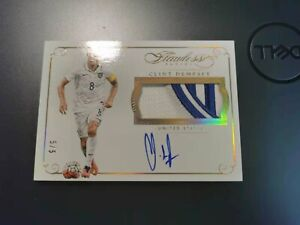 2015/16 Panini Flawless Soccer Clint Dempsey Patch Auto /5 See Pic