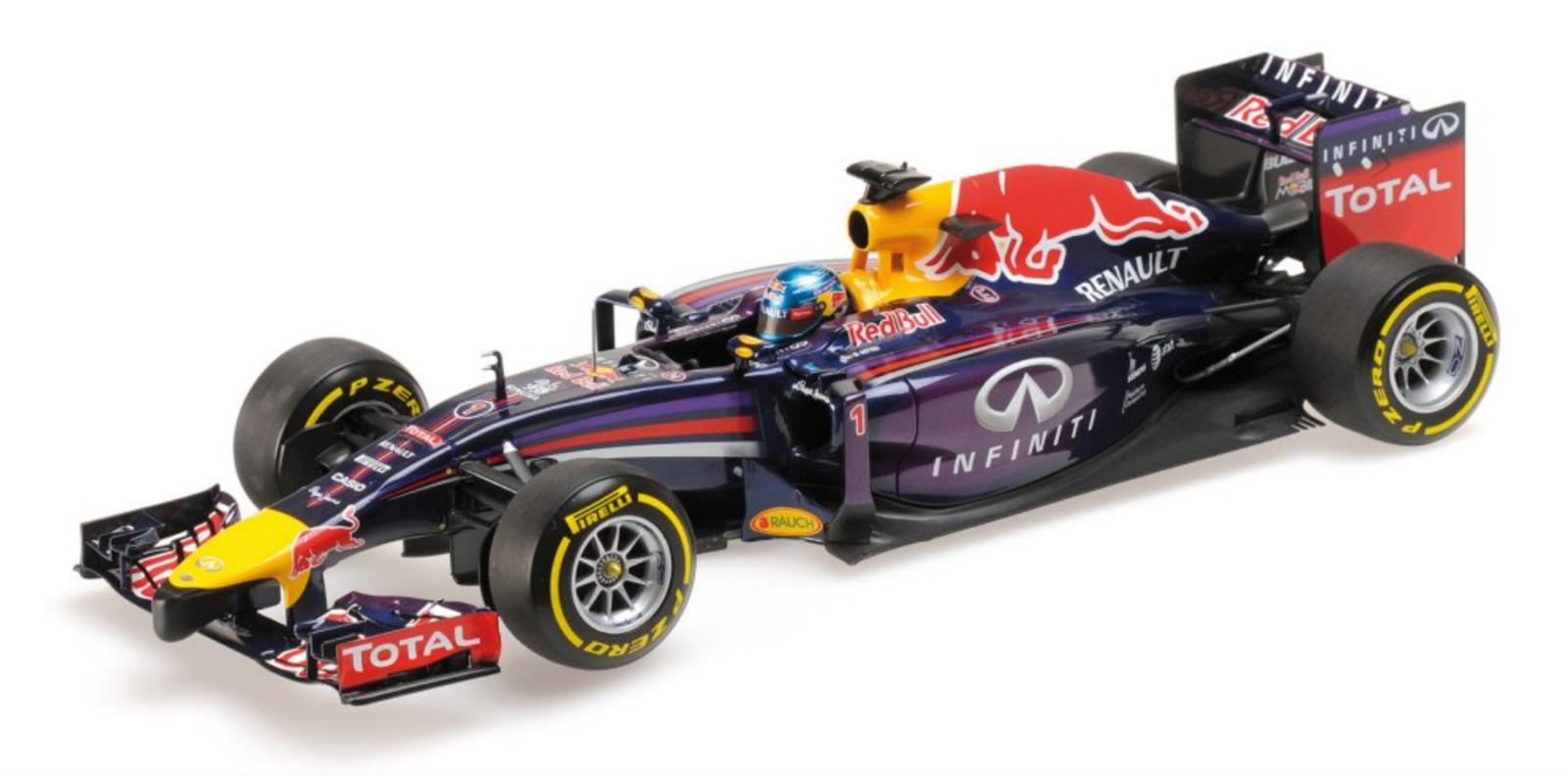 1 18 rouge Bull Renault RB10 Vettel 2014 1 18 • Minichamps 110140001