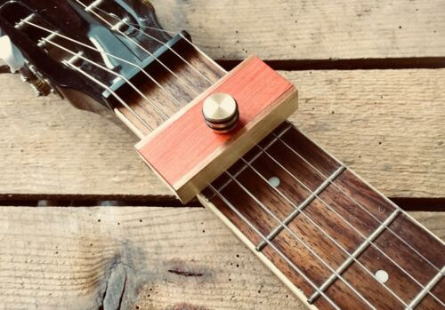 Brass Capo in cherry Dobro Resonator  Weissenborn Lap Steel By Woodshed Capo/'s