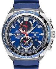 Seiko Men's Prospex 45mm Blue Polyurethane Band Steel Case Solar Watch SSC489