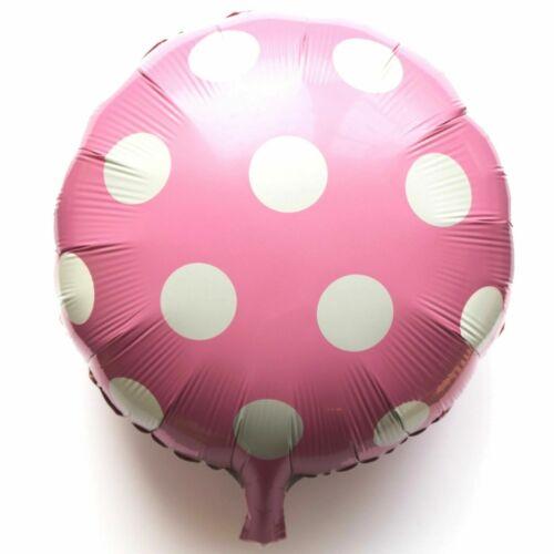 NEU Polka Helium Folienballons Deko Runde Punkte Luftballons Geburtstag balloon