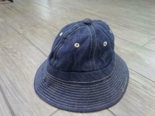 1970s vintage DENIM bucket hat SMALL XS blue jean