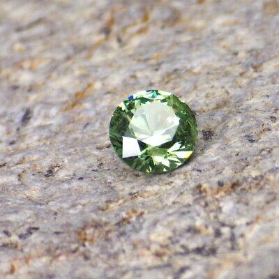 Demantoid Garnet-Russia 0.35 Ct Eye Clean-Very Rare Gemstone-Round Cut 4.2 mm Diameter-Video!
