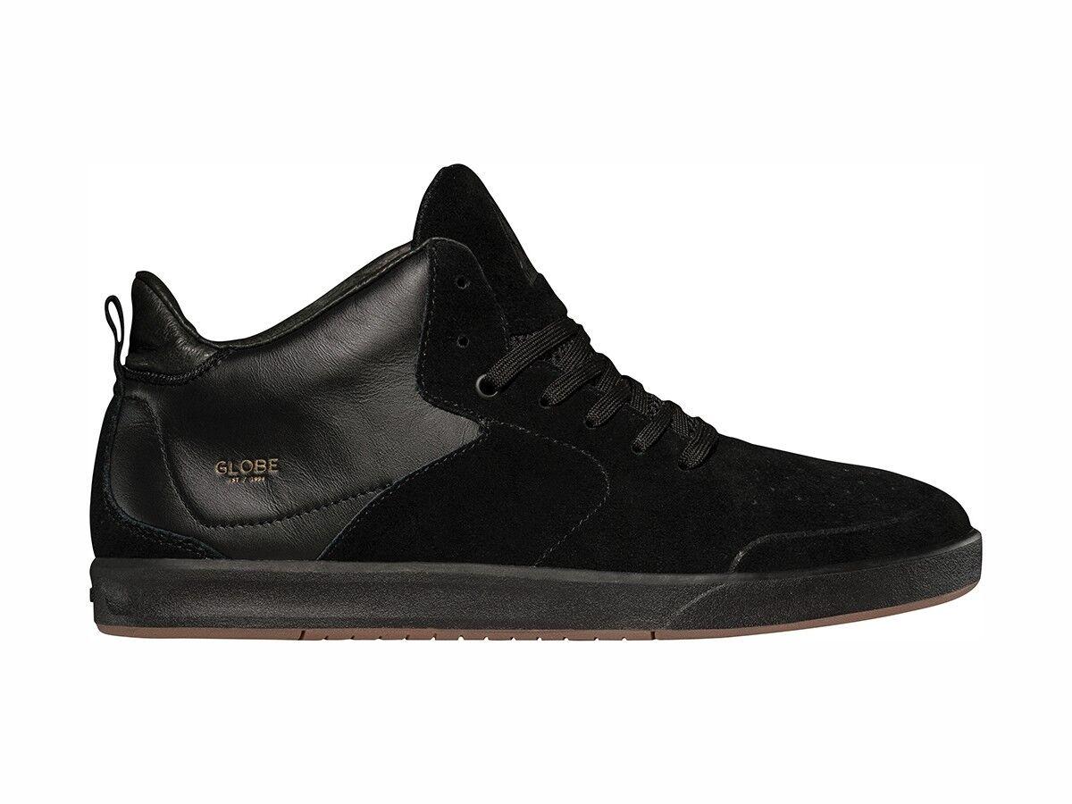 Globe Sneaker Schnürer Halbschuh Abyss black Leder Chris Haslam Mesh